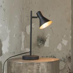 Lampe de table spot noir en métal style industriel et moderne