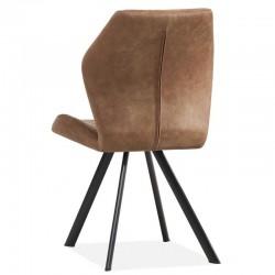 Lot 2 chaises design en tissu Alice