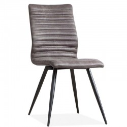 Lot 2 chaises design en tissu Artiste