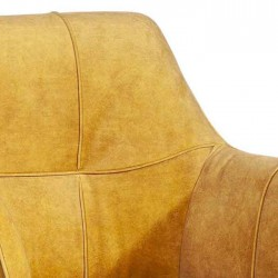 Lot 2 chaises design en tissu Bocha