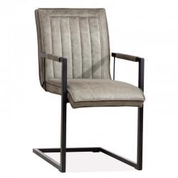 Lot 2 chaises design en tissu Celio
