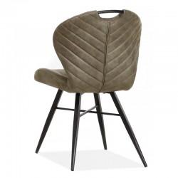 Lot 2 chaises design en tissu Conco