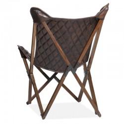 Fauteuil design en cuir Flys