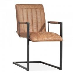 Lot 2 chaises design en tissu Giany