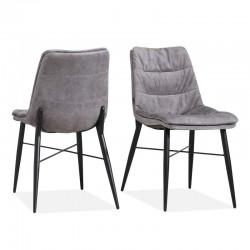 Lot 2 chaises design en tissu Infusion