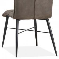 Lot 2 chaises design en tissu Lydia