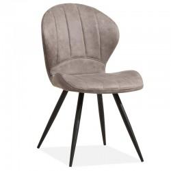 Lot 2 chaises design en tissu MAJIK