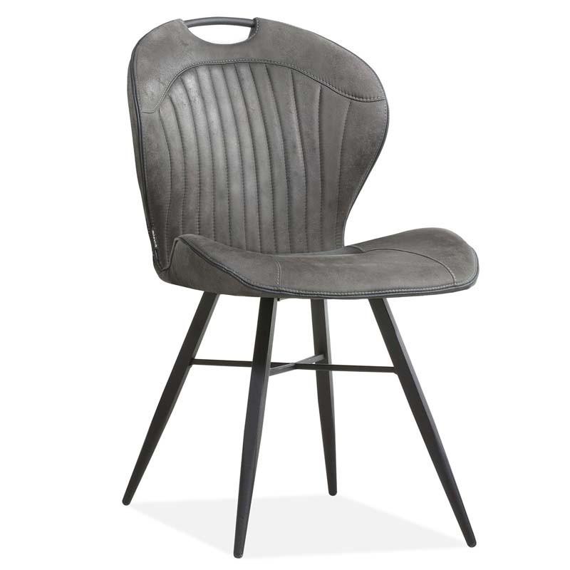 Lot 2 chaises design en tissu MALANA