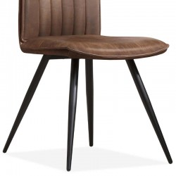 Lot 2 chaises design en tissu Masteria