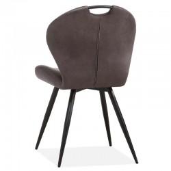 Lot 2 chaises design en tissu Mirak