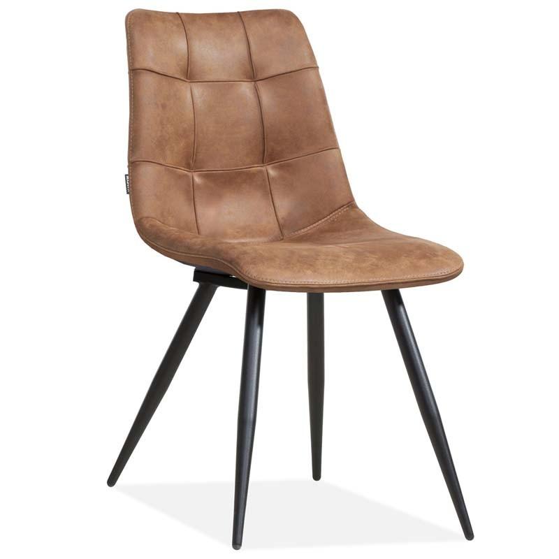 Lot 2 chaises design en tissu Pika