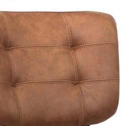Lot 2 chaises design en tissu Punch