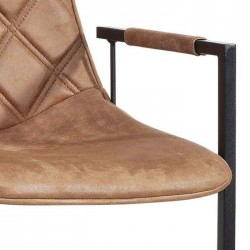 Lot 2 chaises design en tissu Pressa