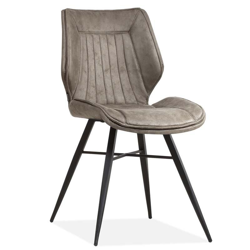 Lot 2 chaises design en tissu Quika