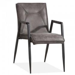 Lot 2 chaises design en tissu Shani
