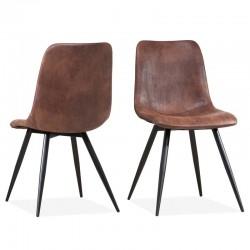 Lot 2 chaises design en tissu Poty