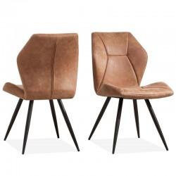 Lot 2 chaises design en tissu Setla