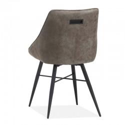 Lot 2 chaises design en tissu Truffa