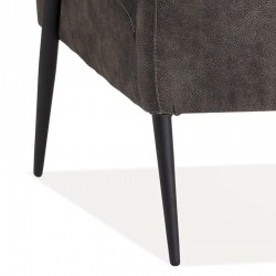 Fauteuil design en tissu Jens
