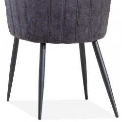 Lot 2 chaises design en tissu Tival