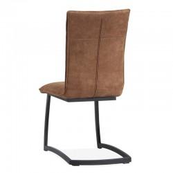 Lot 2 chaises design en tissu Tamara
