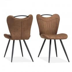 Lot 2 chaises design en tissu Lavi