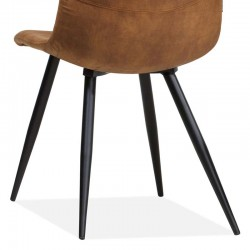 Lot 2 chaises design en tissu Baris