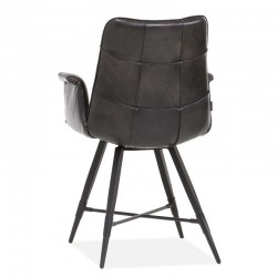 Lot 2 chaises design en tissu Cathy
