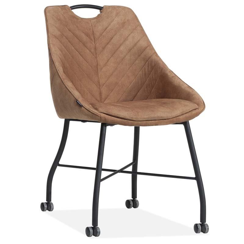 Lot 2 chaises design en tissu Kelvin