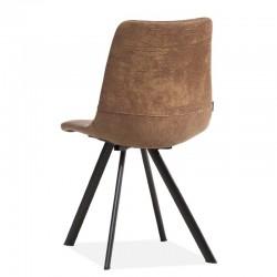 Lot 2 chaises design en tissu Pluton