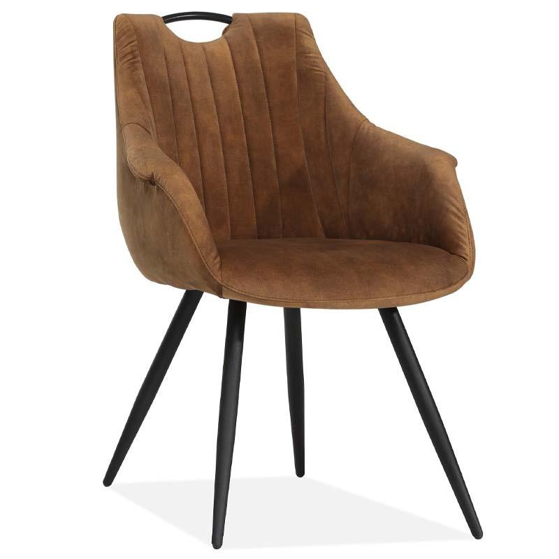 Lot 2 chaises design en tissu Rolls
