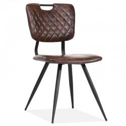 Lot 2 chaises design en tissu Rosas