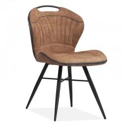 Lot 2 chaises design en tissu Sash