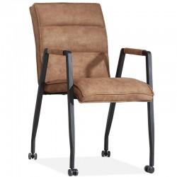 Lot 2 chaises design en tissu Myrza