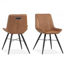 Lot 2 chaises design en tissu Ibissa