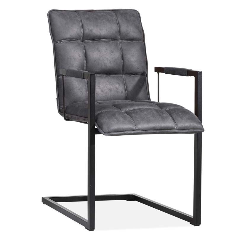 Lot 2 chaises design en tissu Tason