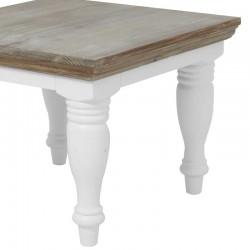 Table basse en pin 60x60 Flora