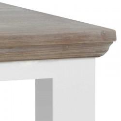 Table basse pieds carrés en pin 130x75 Flora