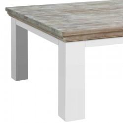 Table basse pieds carrés en pin 100x100 Flora