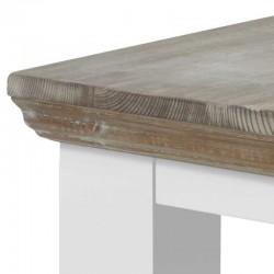 Table basse pieds carrés en pin 60x60 Flora