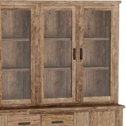 Armoire vitrine en teck 220 Lorens