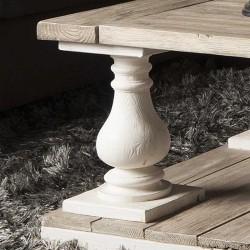 Table basse en pin 140x80 Monsa