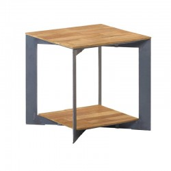Table basse teck et métal 50 Pandore