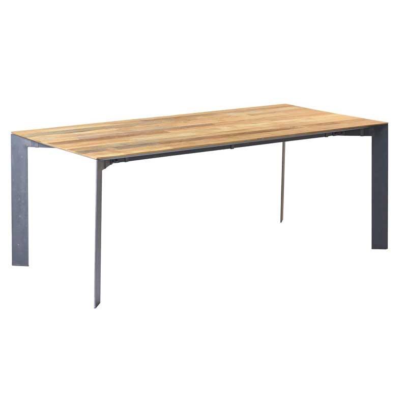 Table à manger teck et métal Pandore
