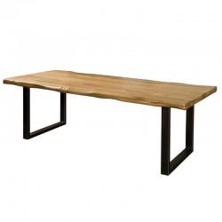 Table à manger en bois et métal Nicos