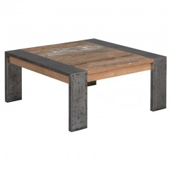 Table basse en teck et métal 100x100 Navarre