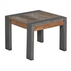 Table basse en teck et métal 60x60 Navarre