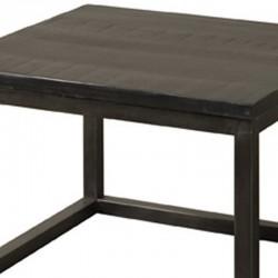 Table basse en bois et métal 60x60 Paterne