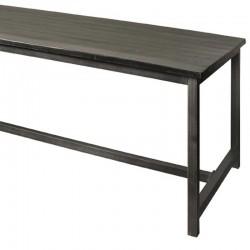 Table à manger en bois et métal Paterne