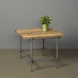 Table basse en teck et métal 60x60 Pesar